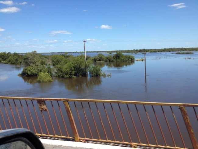 Floodwaters from the Causeway.