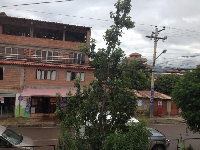 View from the Food and Agriculture Inspection office in Cochabamba