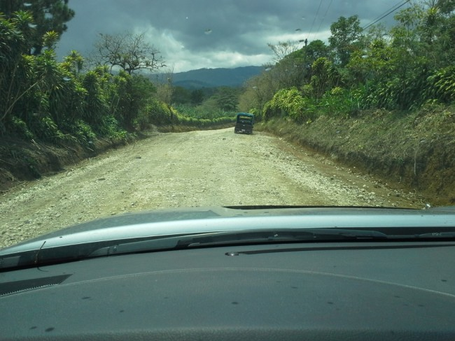 The road from Rio Sereno into Costa Rica
