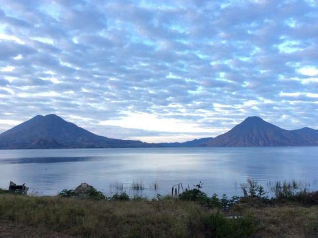 Volcanos as seen from Lake Atitlan