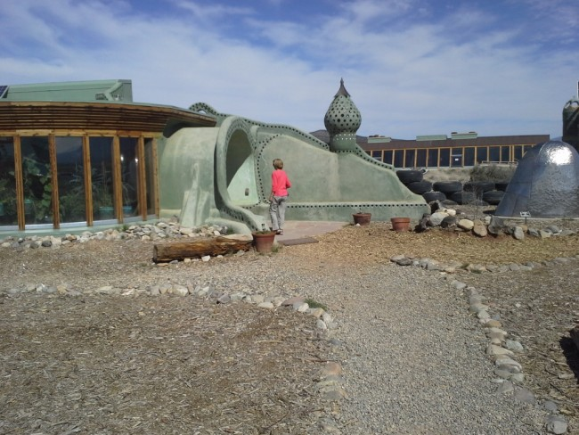 The Earthship display.